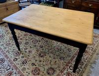 Antique Victorian Pine Farmhouse Table with Drawer (8 of 16)