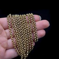 Antique Victorian 9ct 9K Gold Belcher Guard Muff Chain Necklace (8 of 9)