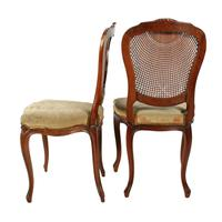 Two Walnut Bergére Salon Chairs (3 of 8)