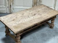 Rustic French Bleached Oak Coffee Table with 2 Drawers (15 of 19)