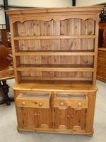 1920's Country Pine Dresser with Display Rack (4 of 5)