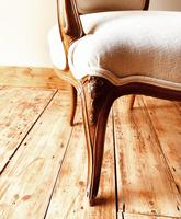French Antique Style Chairs / Louis XV Armchairs / Walnut Chairs / Fauteuils (6 of 8)