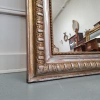 Antique French Gold & Silver Gilded Mirror c.1880 (4 of 4)