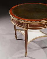 Exceptional Gervais Durand 19th Century Mahogany & Gilt Bronze Gueridon Bouillotte Table (11 of 17)