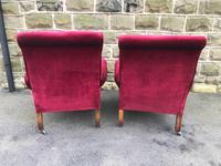 Pair of Antique English Upholstered Armchairs For Recovering (6 of 7)