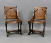 A Pair 19th Century Of Hall Chairs (6 of 6)