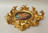 Outstanding 19th Century Florentine Porcelain Plaque Madonna (8 of 8)