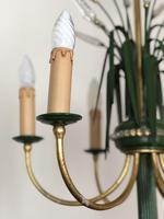 Vintage Art Deco Style Murano & Toleware Wheatsheaf Ceiling Light Chandelier (7 of 12)