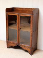 Small Proportioned Oak Glazed Bookcase (4 of 10)