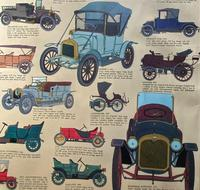 Intriguing Very Large 1960s Oak Framed Vintage Car Automotive Lithograph Poster (9 of 13)