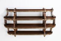 Most Unusual Pair of Four Height Mahogany Wall Shelves (4 of 4)
