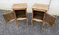 Nice Pair French Bleached Oak Bedside Cupboards (5 of 10)