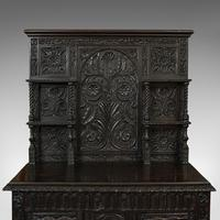 Antique Charles II Revival Dresser, English, Oak, Sideboard, Victorian c.1880 (10 of 10)