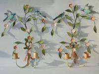 Pretty Pair of Vintage Metal Wall Sconce (5 of 6)