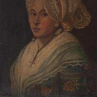 18th-Century French School Portrait of Lady with Bonnet, Oil Painting (5 of 9)