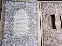 Rare 1900's Antique Lace Photograph Album, Numerous Lace Designs, Bound in Leather Binding (2 of 5)