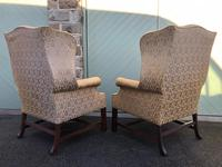 Pair of Antique English Upholstered Wing Armchairs for Recovering (3 of 12)
