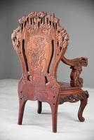 Large Japanese Carved Throne Chair (11 of 12)