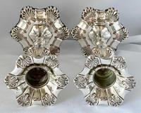 Very Good Quality Silver Plated Sheffield Candlesticks c.1850 (2 of 6)