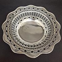 George V Silver Pierced Bowl (3 of 4)
