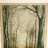 'Moonrise' Colour Etching by Eugène Delâtre (3 of 8)