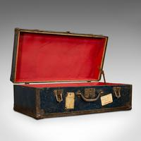 Antique Steamer Trunk, English, Travel, Voyage, Chest, Edwardian c.1910 (9 of 12)