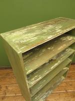 Green Rustic Painted Shelves Kitchen Storage, shabby chic Industrial Shelves (12 of 14)