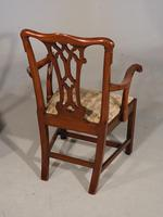 Attractive Early 20th Century Set of 7 '6+1' Chippendale Style Mahogany Framed Chairs (7 of 7)