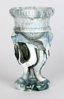 Sowerby / Edward Moore Marbled Slag Glass Gryphon Vase c.1880 (14 of 16)