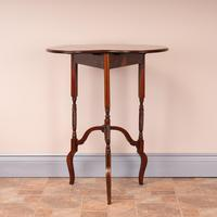 Edwardian Inlaid Rosewood Drop Leaf Occasional Table (5 of 23)