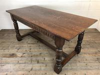 Early 20th Century Antique Oak Refectory Table (M-1739) (12 of 16)