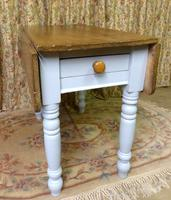 Antique Pine Folding Pembroke Kitchen Table (4 of 5)