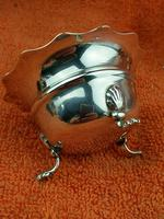 Pair of Sterling Silver Hallmarked Salt Cellar Pot with Blue Glass Liner (8 of 10)