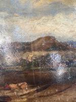 Antique Large Impressionist Landscape Oil Painting in Opulent Frame (7 of 10)