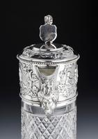 Attractive Early 20th Century Silver Topped Claret Jug (6 of 8)