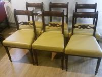Set of 6 Regency Period Mahogany Dining Chairs (2 of 6)