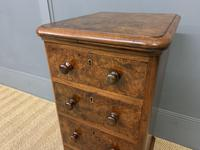 Victorian Pair of Burr Walnut Bedside Chests (12 of 14)