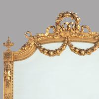 19th Century French Gilt Gesso Tall Mirror with Ornate Decorative Applique (3 of 3)