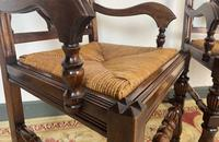 Antique Breton Side Table with Rush Seats (11 of 15)