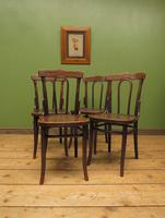 Four Antique Polish Thonet Style Bentwood Bistro Chairs with Pressed Seats (15 of 22)