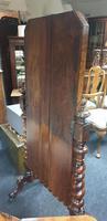 Victorian Walnut Cheval Dressing Mirror (4 of 5)
