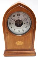 Fine Antique Bulle Electric Mantel Clock – Mahogany & Satinwood Case Mantle Clock (2 of 9)