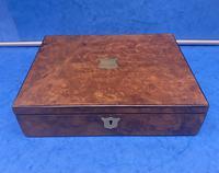 Victorian Burr Walnut Writing Box c.1870 (6 of 14)