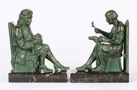 Max Le Verrier Pair Art Deco Patinated Bronze The Cobbler & The Financier Bookends (13 of 18)