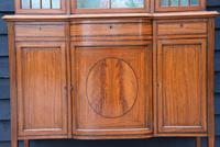 Exceptionally Fine Quality Edwardian Satinwood Display Cabinet c.1901 (8 of 20)