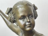 Charming  German Art Deco Style Bronze Sculpture Dancing Young Ballerina Girl (12 of 24)