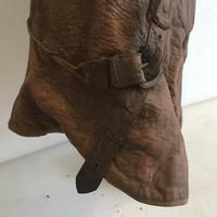 WWI British Fighter Pilots Cowl Helmet (11 of 16)