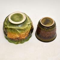 Pair of Antique Majolica Porcelain Plant Stands (6 of 12)