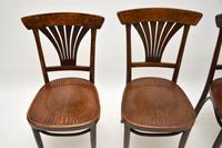 Set of 4 Antique Bentwood Cafe Dining Chairs (5 of 12)