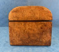 Victorian Brassbound Burr Walnut Glove Box (7 of 9)